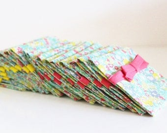 Pouches for dragees Liberty Michelle Lemongrass (x10) - ON ORDER
