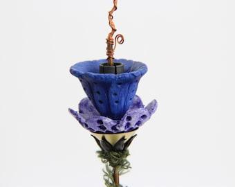 Mixed Media handmade Flower sculpture