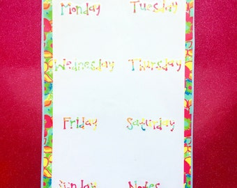 Lilly Pulitzer Print Inspired Calender  Vinyl Decal