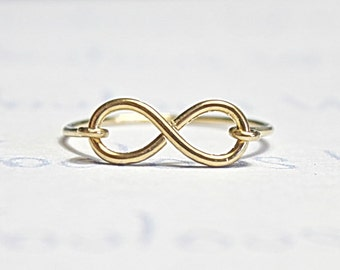Infinity Ring, Gold Filled Wire Handemade Love Ring, Dainty and Beautiful Infinity Symbol Ring, Eternality Love Friendship Ring