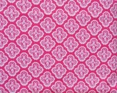 Pink flowers. Flannel fabric by the yard.  Baby girls.  Cut by the 1/2 yard (18 inches).  Flowers, mosaic pattern