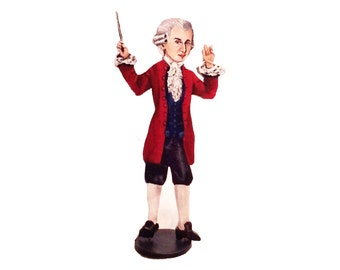 Mozart Hand Painted 2D Art Figurine