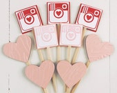 Social Media Heart Cupcake Toppers - VALENTINES DAY