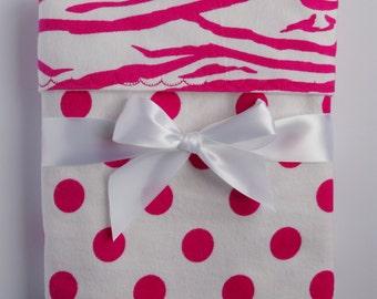 Girls flannel blanket- pink zebra blanket- receiving blanket- swaddle blanket- toddler girl bedding- new baby gifts- unique baby blankets