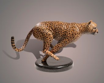 """Bronze Sculpture """"The Cheetah"""" Amazing Detail!!! Limited Edition SCULPTURE by Barry Stein"""