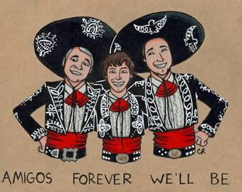 3 Amigos print