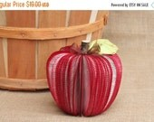 SALE 20% OFF Gift for Teacher, Teacher Gifts, Upcycled Book Apple, Back to School, MADE To Order