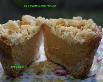 Vegan pumpkin vanilla baby cheesecakes 5 pieces  love,no dairy