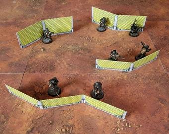 Holoshield Barricades - Print and Play Terrain - Warhammer 40k, Necromunda, Infinity, Warmachine, scifi wargames, scifi