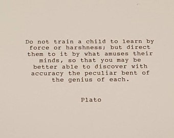 Plato typed quote