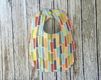 Colorful Pegs Baby Bib