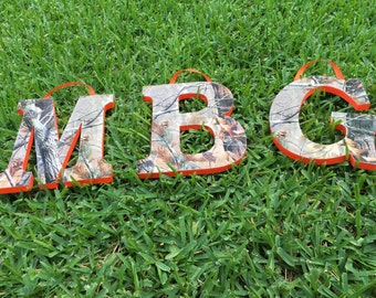 2 Realtree Camo Wooden letters