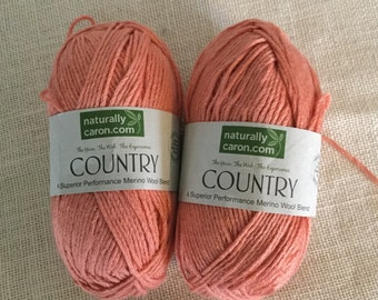 Yarn, yarn stash, wool blend yarn, Caron Country, two skeins