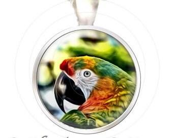 Colorful Parrot - Tropical Colors  - Fine Art Photo Pendant - Your Choice of Finish