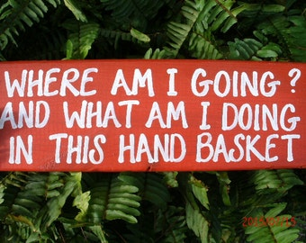 Where Am I Going? And What Am I Doing In This Hand Basket?