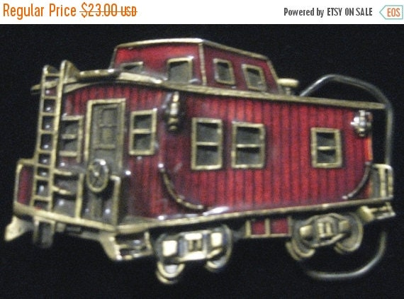 15% Off Sale Vintage 1979 The Great American Buckle Co. Caboose Belt Buckle