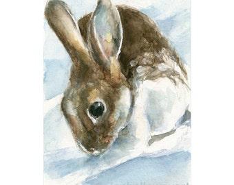 Watercolor Bunny, Bunny Print, Bunny Art, Rabbit Print, Animal Print