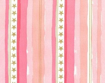 Stars and Stripes (Pink with Cotton Metallic) - Magic - Sarah Jane - Michael Miller Fabrics - 1 Yard