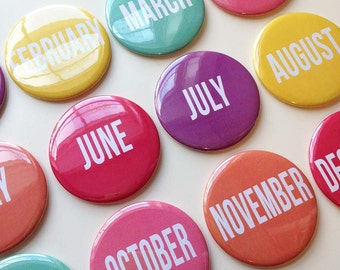 Monthly Calendar Magnets - Months of the Year - Perpetual Calendar