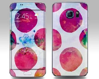 WATERCOLOR RED Galaxy Decal Galaxy Skin Galaxy Cover Galaxy S6 Skin, Galaxy S6 Edge Decal Galaxy Note Skin Galaxy Note Decal Cover
