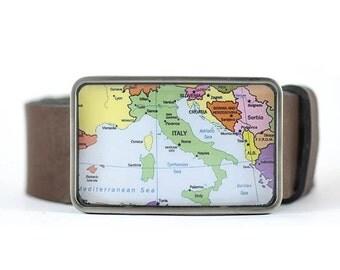 Italy Map Belt Buckle,  Men's belt bucke, gift for him
