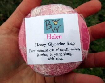 Helen LIMITED EDITION Honey Glycerine Soap - Neroli, Amber, Jasmine, & Ylang Ylang