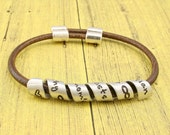 Friend Gift | Sister Gift | Friend Bracelet |  Friend Quotes | Adjustable Length - Secret message THIN leather bracelet  -by IIWII Emporium