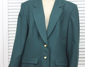 Vintage Pendleton Womens Jacket Green Wool Size 16