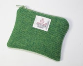 Harris Tweed purse, coin purse, change purse, green