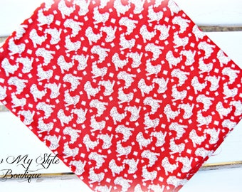 Moda Fabric Pampered Pooch by Chloe's Closet/Moda Fabric/Red and white/Vintage Puppy Print Fabric/Quilters Cotton/Yardage