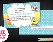 Spongebob Birthday Invitation | Spongebob Squarepants | Patrick | Gary | Polka Dot | Printable DIY |Digital Birthday Invitation (BP27)