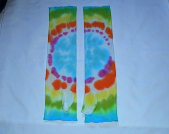 Arm Warmers, Hand Dyed Cotton, OOAK