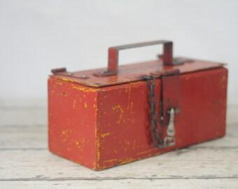 Metal Box Toolbox Vintage Metal Tool Box Vintage Metal Storage Box