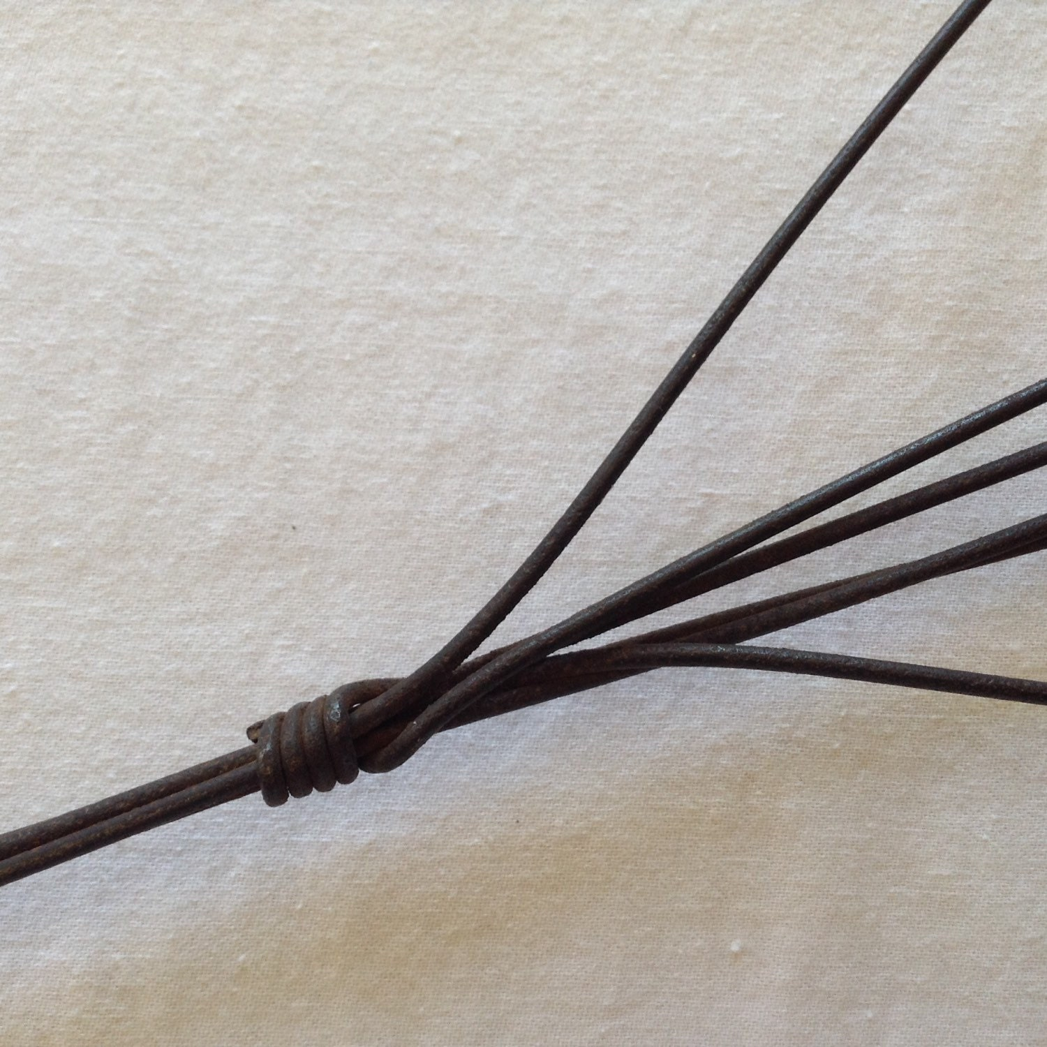 Antique Carpet Beater 30 Wood And Looped Metal By
