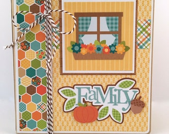 Family Scrapbook Album Kit or Premade Scrapbook Album