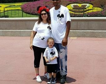 Family Mickey Shirts and Minnie Ears