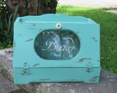 Jade Wooden Breadbox with window