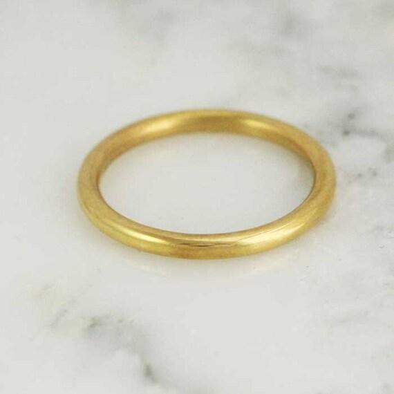 solid 14k 18k 22k 24k gold 2mm by hoardjewelry