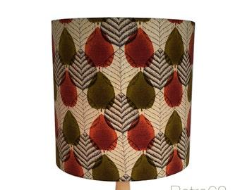 Original Vintage 1950s Fabric Handmade Drum Lampshade