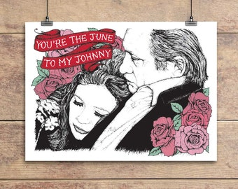 June Carter Cash to my Johnny Cash - Valentine's Greeting Card