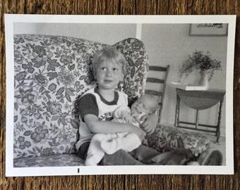 Original Vintage Photograph Big Brother