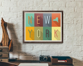 New York Grid - Typography Print