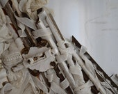 Mixed Media Assamblage Collage Sculpture Shabby Chic Art. Recycled Antique materials.Visual Poetry