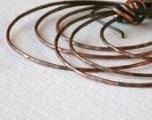 Three Hoop Earrings/Hoop Earrings / Minimalist Hoop Earrings/ Minimalist Earrings/ Multi Hoop Earrings/ Rustic Earrings/ Tribal Earrings