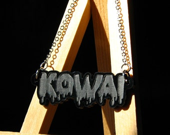 Engraved Opaque Black Kowai Necklace