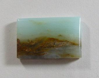 Peruvian picture Opal Designer Cabochon, Gemstone cabochon,  16x25.5x4mm, rare scenic cabochon, small cab, rectangle shape (po82161)