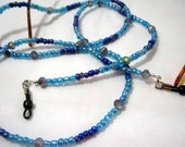 Blue Seed Beads Eyeglass Chain Sunglasses Lanyard Necklace