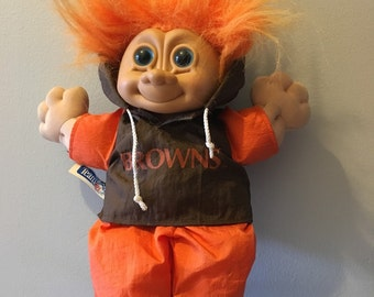 Vintage orange troll, trolls, troll dolls