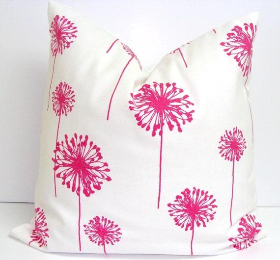 Pink Floral Decorative Pillows : Flower Pillows.Decorative Pillow Pink Floral by ElemenOPillows