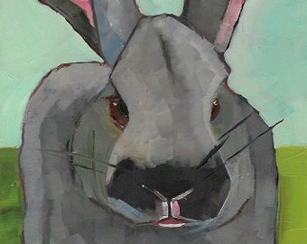 Great Rabbit Original Oil Painting